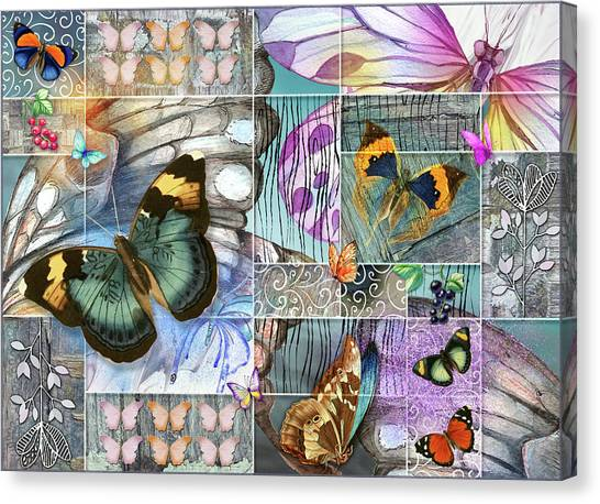 Butterfly Wings Collage Canvas Print