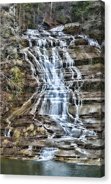 Cornell University Canvas Print - Buttermilk Falls by Stephen Stookey