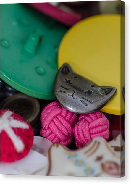 Button Button Box Canvas Print
