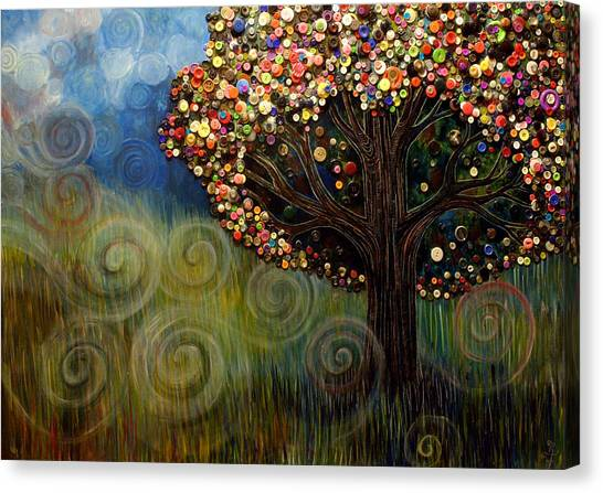 Button Tree 0003 Canvas Print