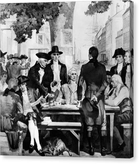 Buttonwood Agreement Founded The New Canvas Print by Everett