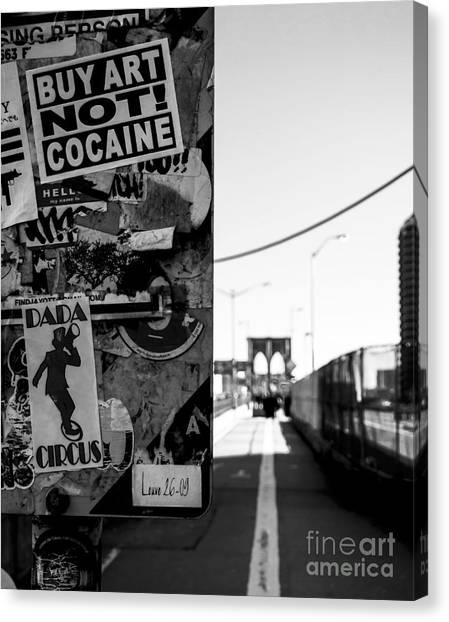 Buy Art Not Cocaine Canvas Print