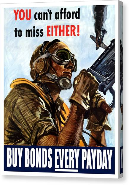 Air Force Canvas Print - Buy Bonds Every Payday by War Is Hell Store