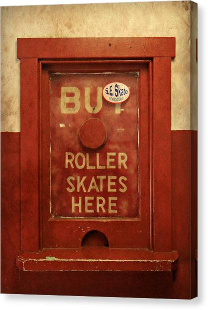 Buy Skates Here Canvas Print