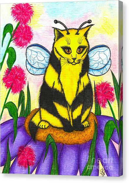 Buzz Bumble Bee Fairy Cat Canvas Print