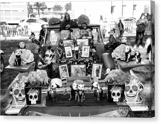 f7dcaa2c327 The Skull Canvas Print - Bw Classic Car Trunk Decor Day Dead by Chuck Kuhn