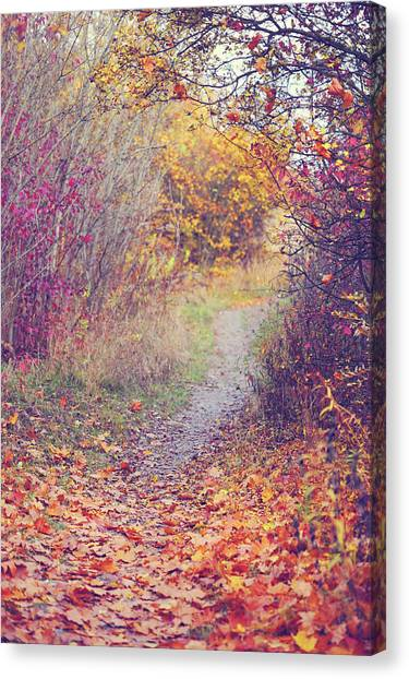 Wild Berries Canvas Print - By Autumn Path 1 by Jenny Rainbow