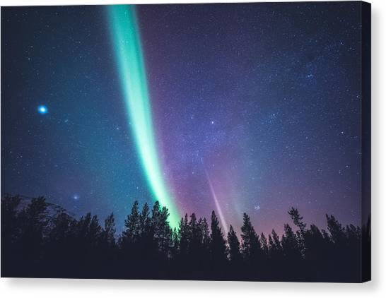 Planets Canvas Print - By Jupiter by Tor-Ivar Naess