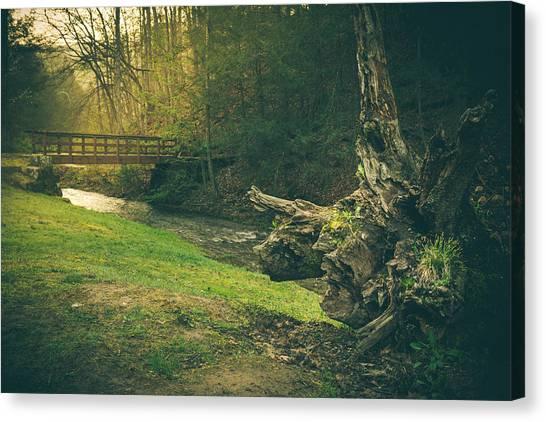 West Virginia Canvas Print - A Place...by The Bridge by Shane Holsclaw