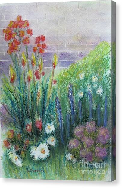 By The Garden Wall Canvas Print