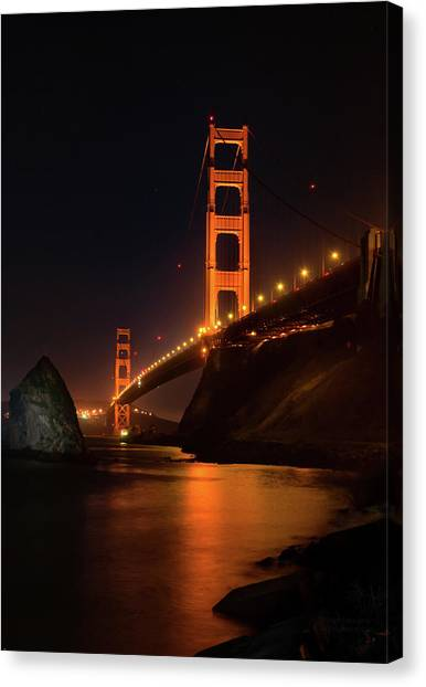By The Golden Gate Canvas Print