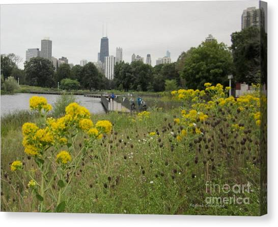 By The Lincoln Park Pond Canvas Print