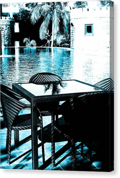 Andreas Gursky Canvas Print - By The Pool by Sharmaigne Foja