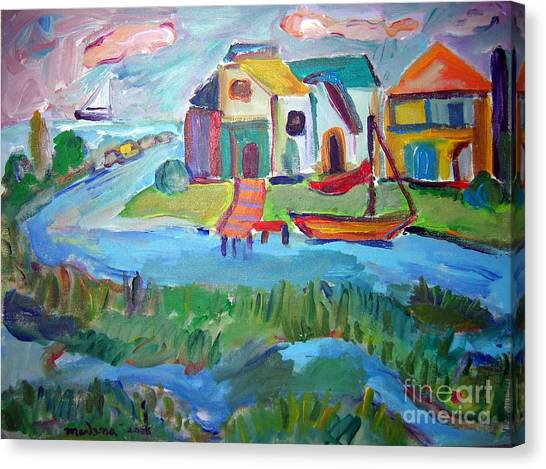 By The Sea Canvas Print by Marlene Robbins