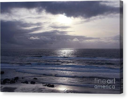 By The Silvery Light Canvas Print