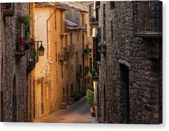 By The Town Of Ainsa In The Province Of Huesca Canvas Print
