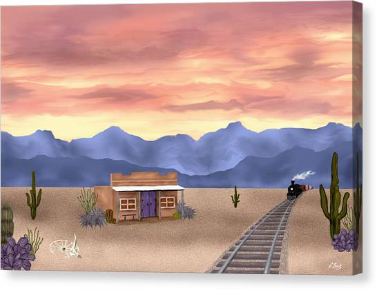 By The Tracks Canvas Print by Gordon Beck