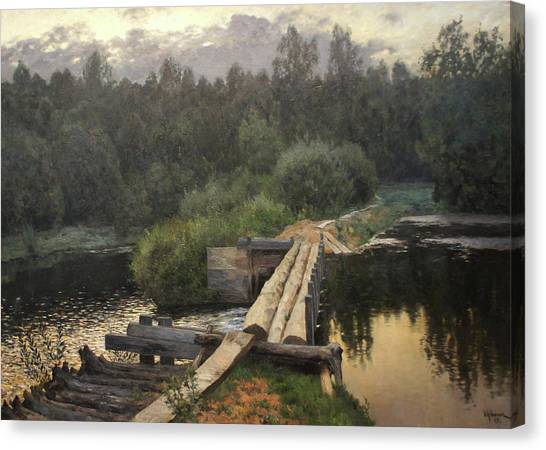 By The Whirlpool Canvas Print by Isaac Levitan