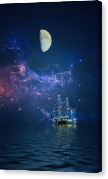 By Way Of The Moon And Stars Canvas Print