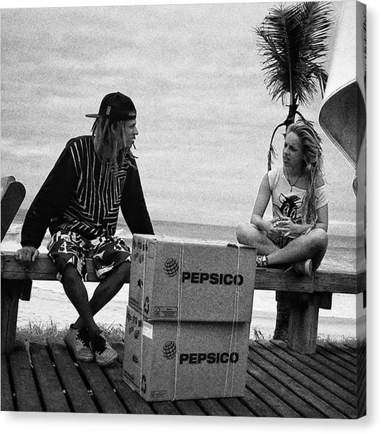 Soda Canvas Print - Bye Bye Rio!  #people #instapeople by Rafa Rivas