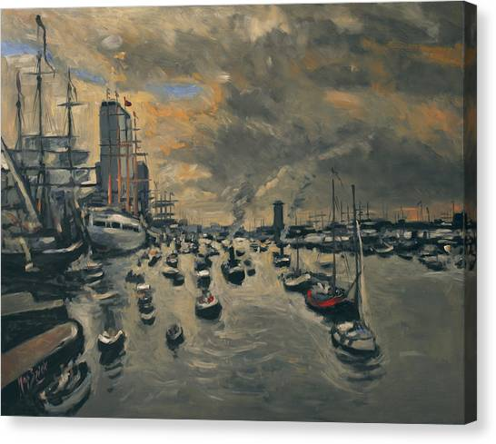Briex Canvas Print - Bye Bye Sail Amsterdam by Nop Briex