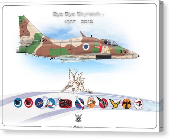 Bye Bye Skyhawk Canvas Print