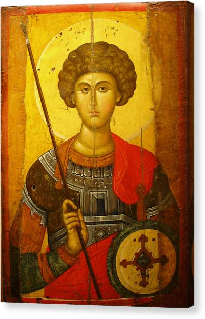 Byzantine Art Canvas Print - Byzantine Knight by Ellen Henneke