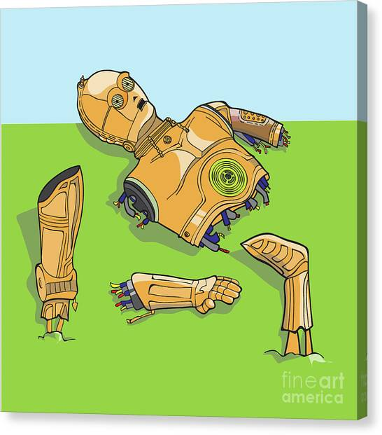 Droid Canvas Print - C-3poh by Jorgo Photography - Wall Art Gallery