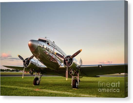 C-47 At Dusk Canvas Print