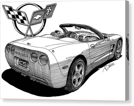 C-5 Corvette Convertible Canvas Print