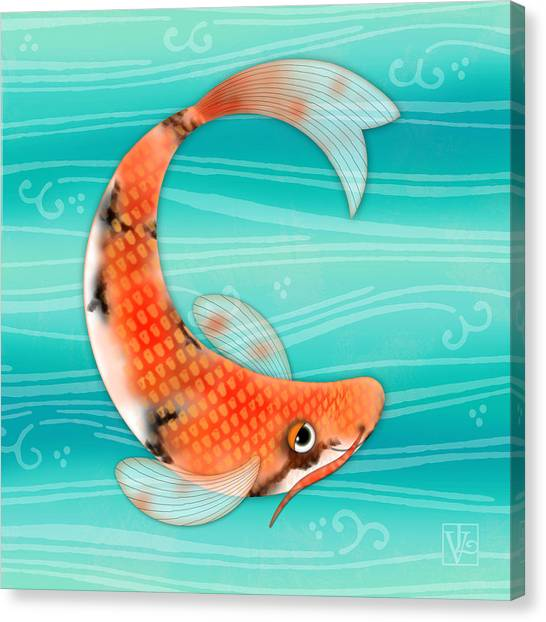 C Is For Cal The Curious Carp Canvas Print