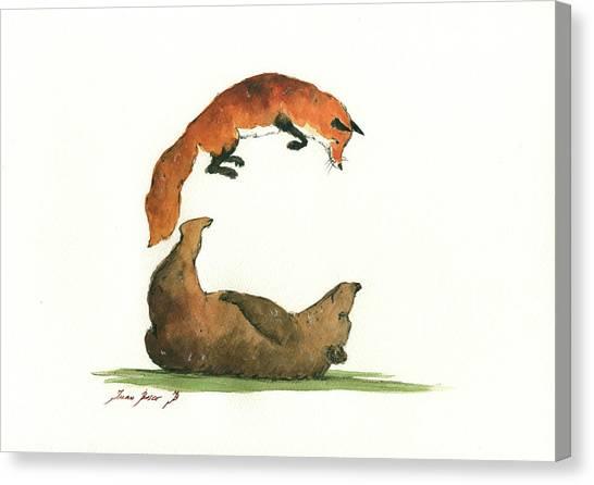 Woodland Canvas Print - C Letter by Juan Bosco