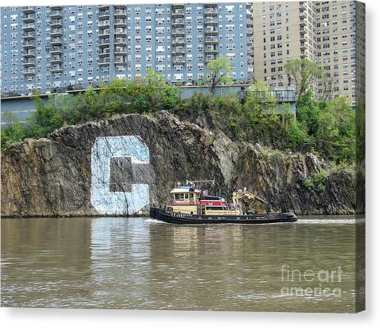 C Rock With Tug Canvas Print