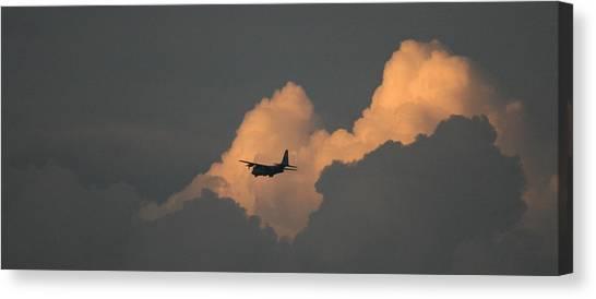 C130 Hercules Sunset 2 Canvas Print