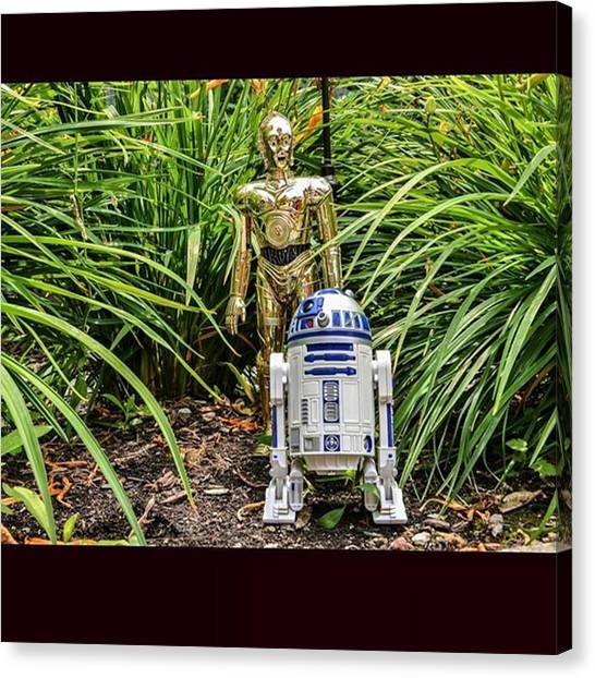 Droid Canvas Print - C3po Needs To Get To Han And Chewie by Russell Hurst