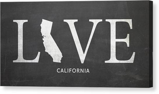 Canvas Print featuring the mixed media Ca Love by Nancy Ingersoll