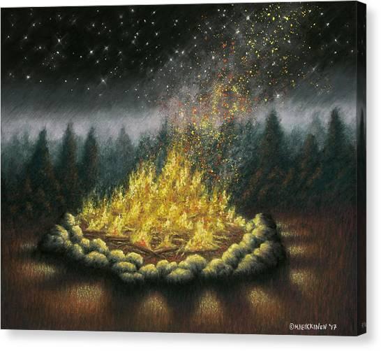 Campfire 01 Canvas Print
