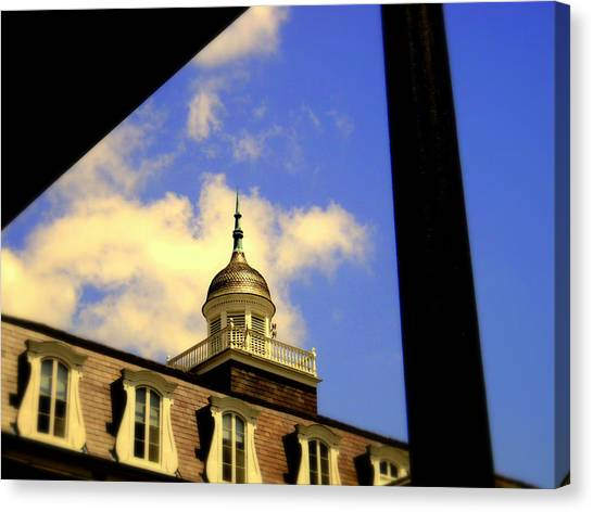 Cabildo Cupola Jackson Square Canvas Print by Ted Hebbler
