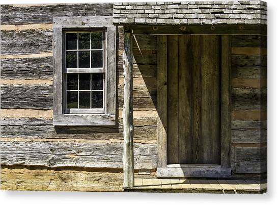 Cabin Door 01 Canvas Print