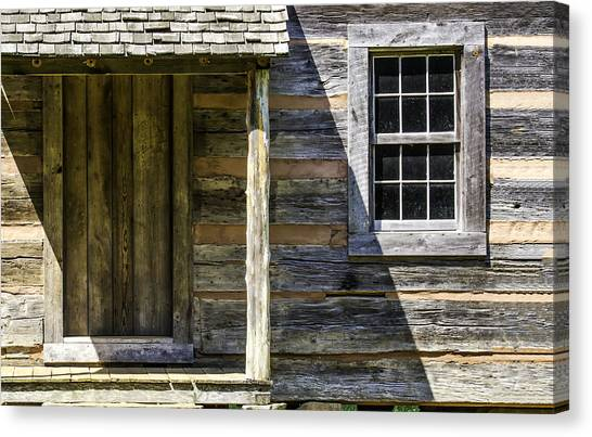Cabin Door 02 Canvas Print