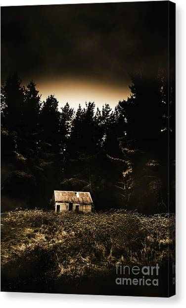 Home Runs Canvas Print - Cabin In The Woodlands  by Jorgo Photography - Wall Art Gallery