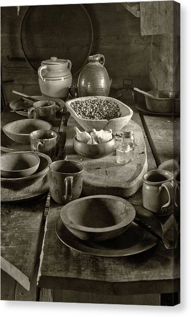 Cabin Kitchen Table Canvas Print