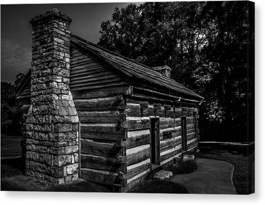 Canvas Print featuring the photograph Cabin On The Grounds At The Hermitage by James L Bartlett