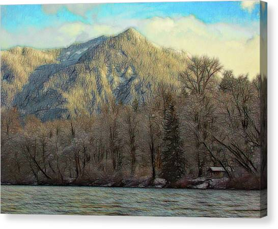 Cabin On The Skagit River Canvas Print