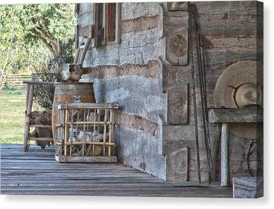 Cabin Porch1 Canvas Print