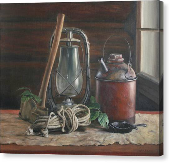 Rope Canvas Print - Cabin Still Life by Anna Rose Bain