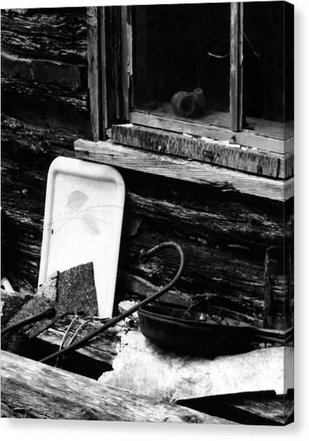 Cabin-window Canvas Print
