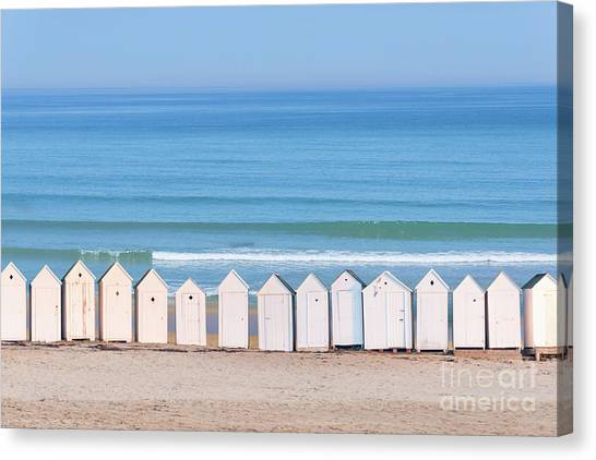 Beach Cabin Canvas Print - Cabins by Delphimages Photo Creations