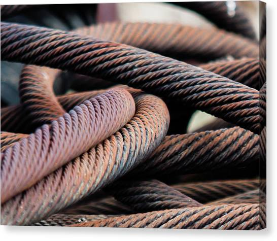 Cable Chaos Canvas Print