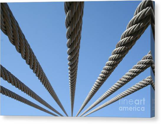 Cables To Heaven Canvas Print by Andrew Serff